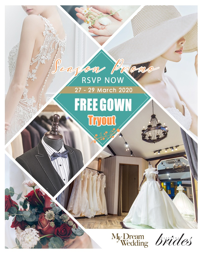 RSVP for Free Gown Tryout on coming 27 – 29 March 2020