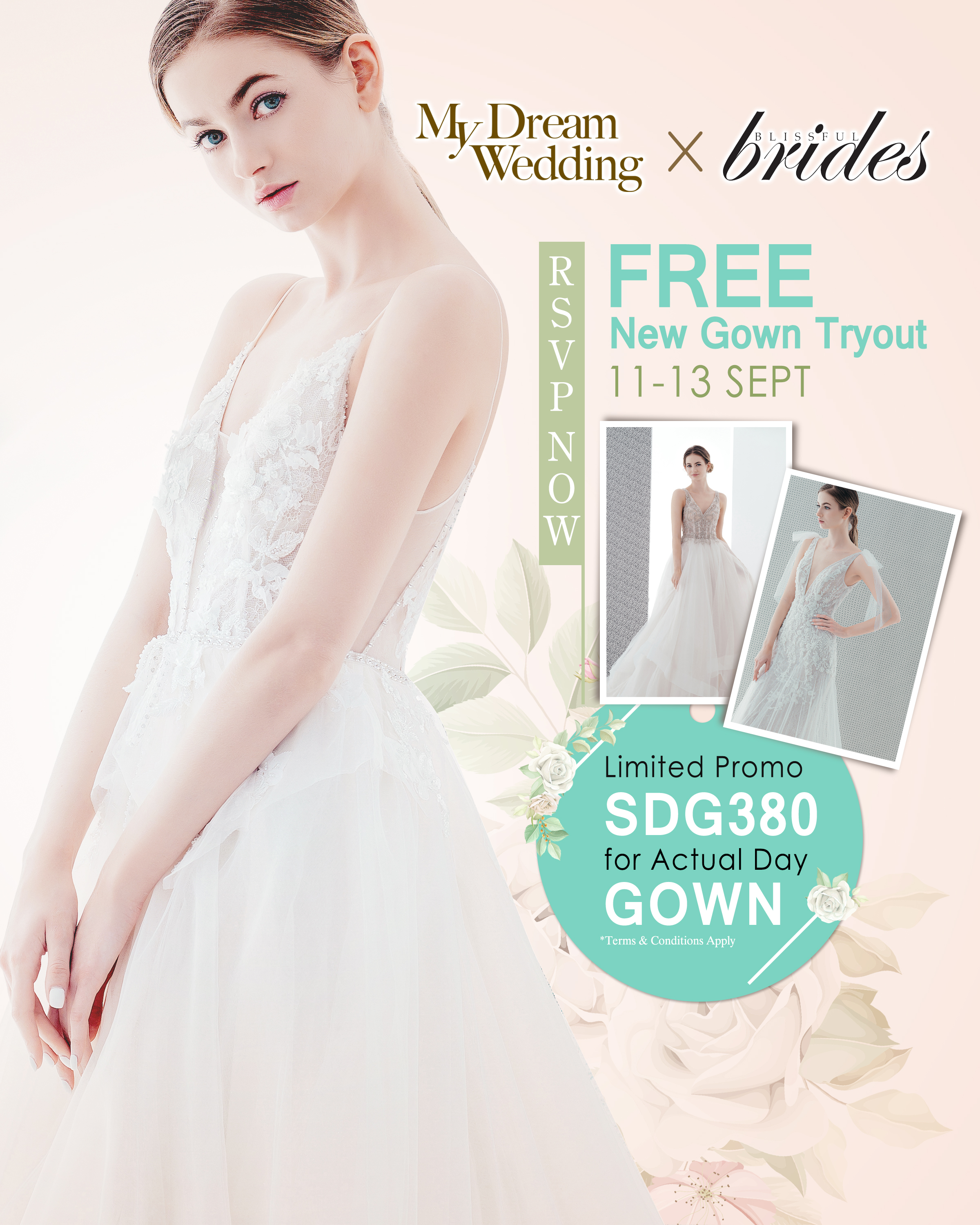 Free New Gown Tryout – 11 to 13 Sept